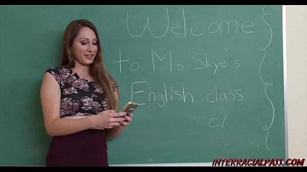 Ex-Teacher Nina Skye loves big black cock
