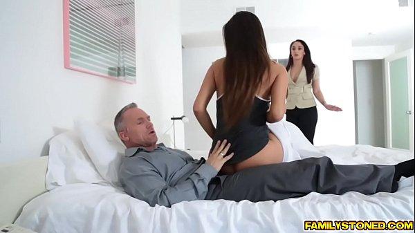Katya Rodriguez sucks her step dads matured cock