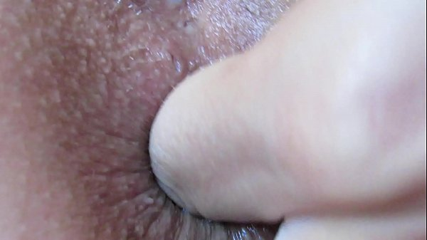 Extreme close up anal play and fingering asshole