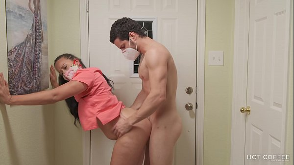 Big ass Latina nurse gets home to a good fuckin...