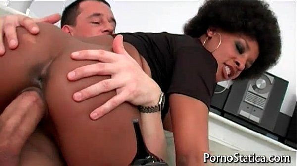 Black slut Lala X rides some fat cock