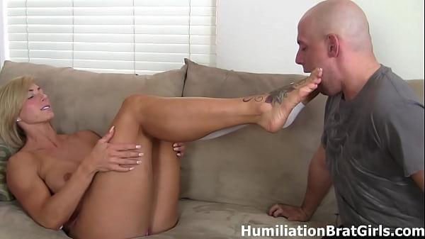 Peeling Rapture's socks off and sucking on her ...