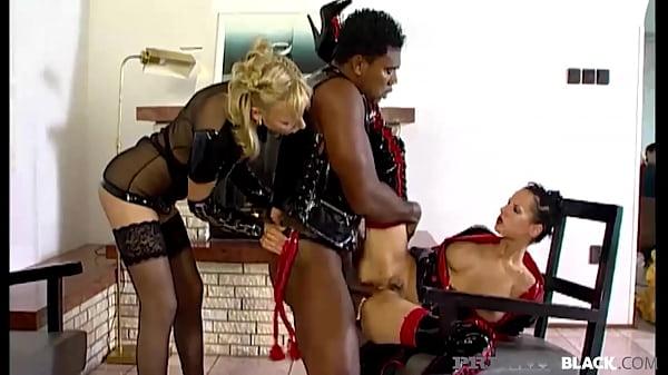 PrivateBlack - Michelle Wild & Britnee Interracial Anal 3 Way In Latex