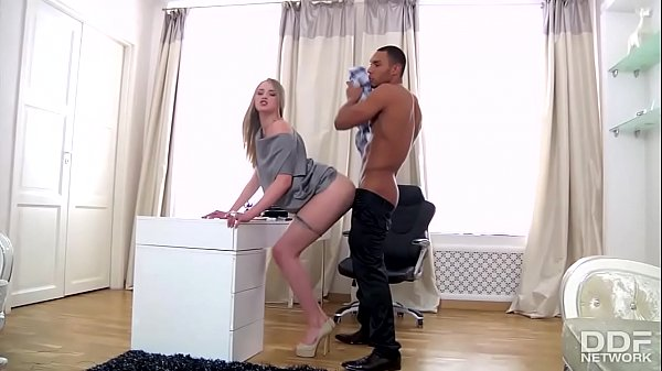 Tall Russian Teen luxury Secretary gets Blacked by her Boss