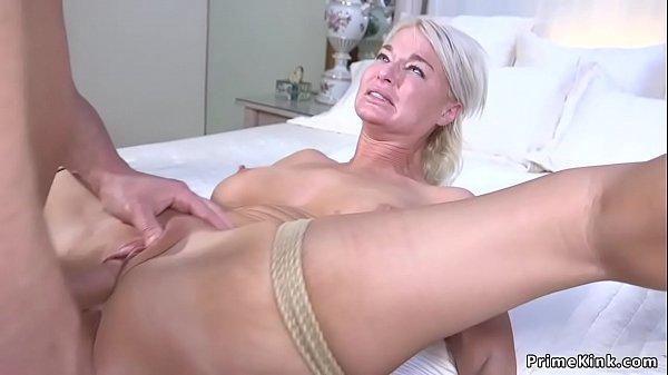 College guy fucks huge tits Milf in bondage
