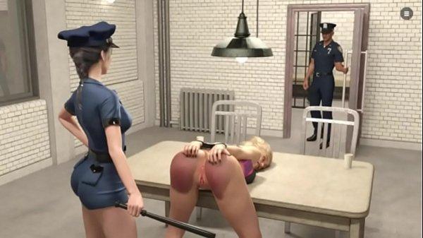 ANAL HARDCORE - SLUT y. BIG ASS HUGE BOOBS vs ROUGH POLICE LESBIAN GIRL - VERY HARD DEEP HAND FUCKS Thumb