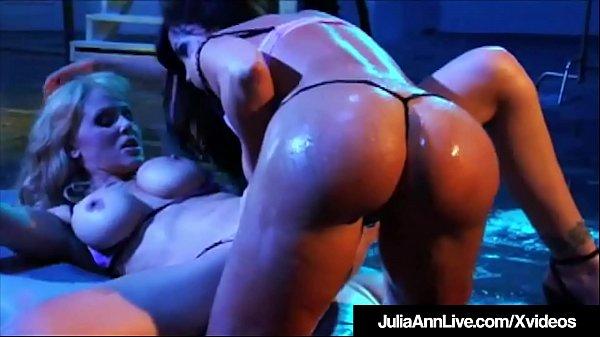 Lesbian Milfs Julia Ann & Lisa Ann Eat Pussy In Older Film