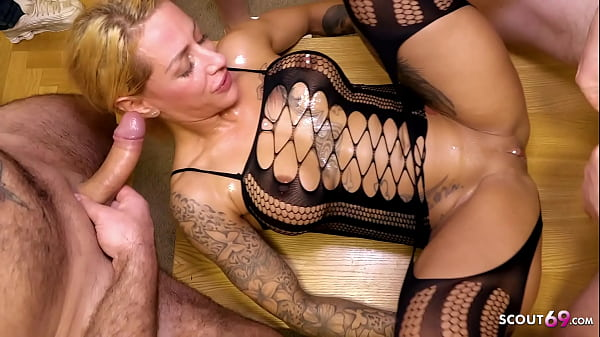 German FitxXxSandy Rough Gangbang Party with User in Berlin