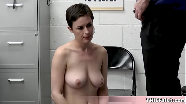 Cute short haired brunette teacher Olive is a cleptomaniac Thumb