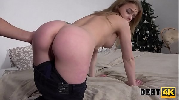 Debt4k. Twenty-year-old sweetheart Calibri Angel sells her mouth and ass for a debt