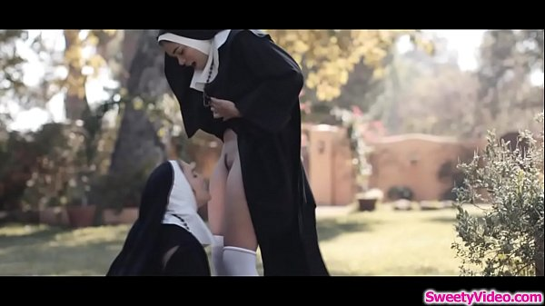 Horny nuns lick pussies after the mass