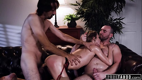 PURE TABOO Aiden Ashley Has Threesome With Hung College Prof & New Boss, His Stepdad