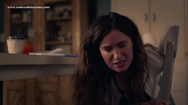 Kathryn Hahn pants pulled down exposes panty while spanking her own ass