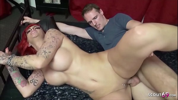 Redhead Big Tits Mom from Germany Rough First Time Casting Fuck
