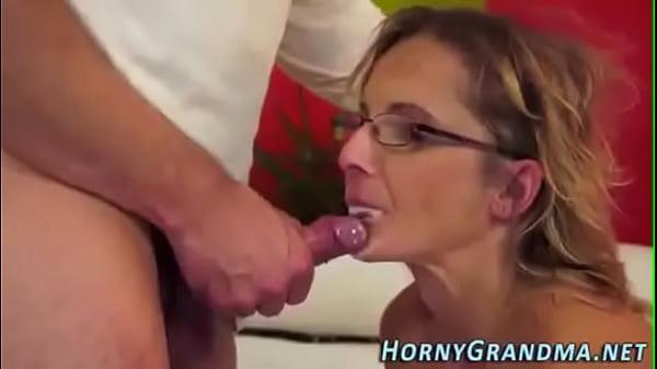 mature cougar cum mouth
