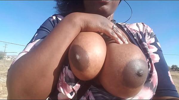 Public boob flashing with penguin