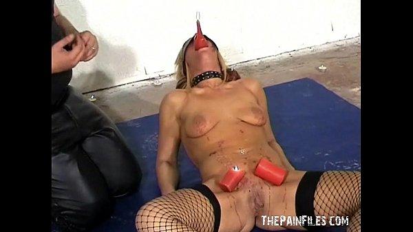 Blindfolded bondage babes punisment and dominated fetish pornstar in extremes