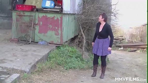 German Redhead Granny enjoys a Countryside Pounding Thumb