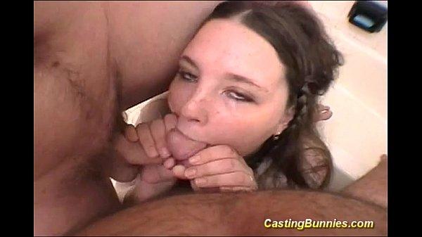 Casting bunyn sucking two cock