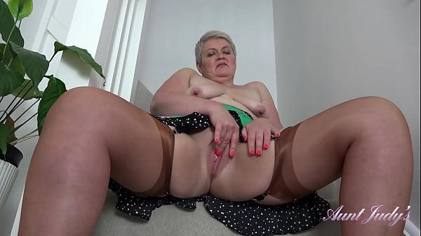 AuntJudys - Short Haired Britsh BBW Mrs.Candy (UpSkirt & Stockings)