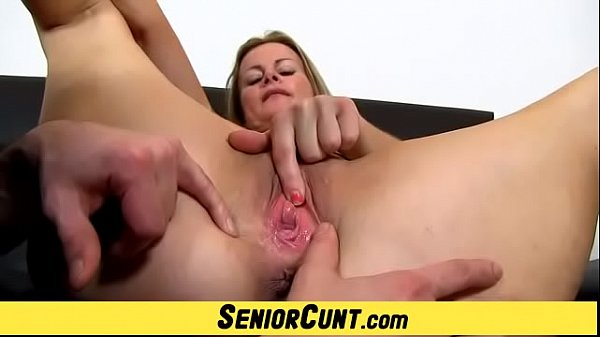 Playing with hot blonde Milf pussy featuring Mi...