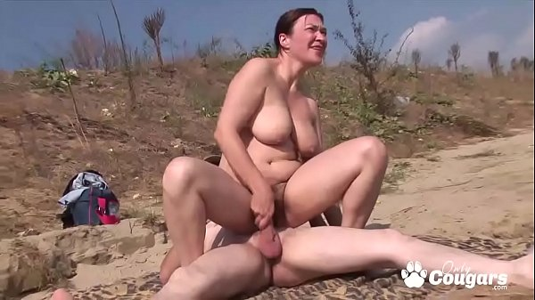 Chunky Mature MILF Has Sex At A Nude Beach Thumb