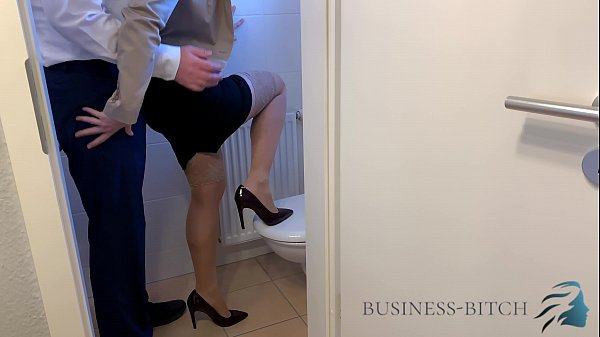 fucked by boss on office restroom, Business Bitch