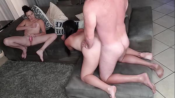 cuckquean watching her hubby fuck her friend