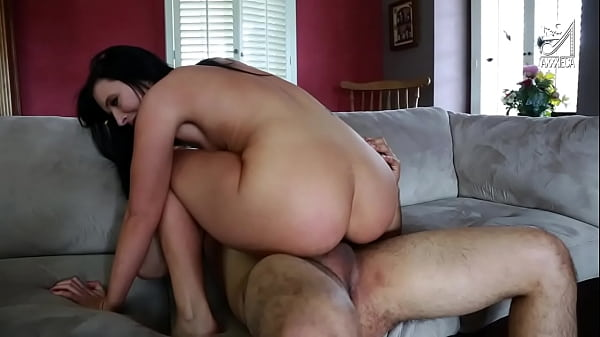Bubble butt girl is anal fucked by pervert stepdad after spying her in the shower