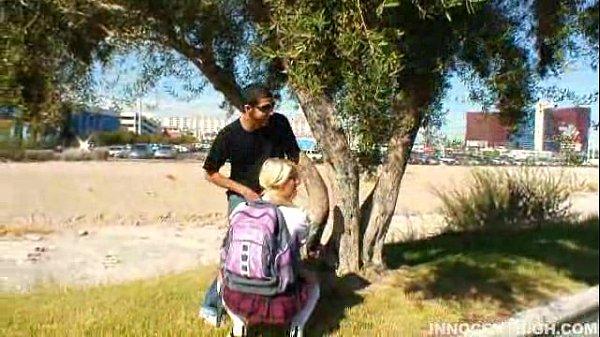 Blonde Asian teen Cayden Moore punished by her professor