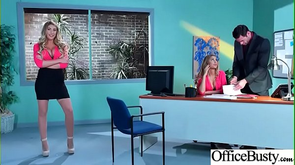 Big Melon Tits Girl (August Ames) Love hardcore Sex In Office video-03