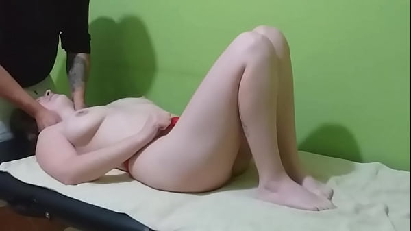 Massage on the big tits makes my dick fat and hard