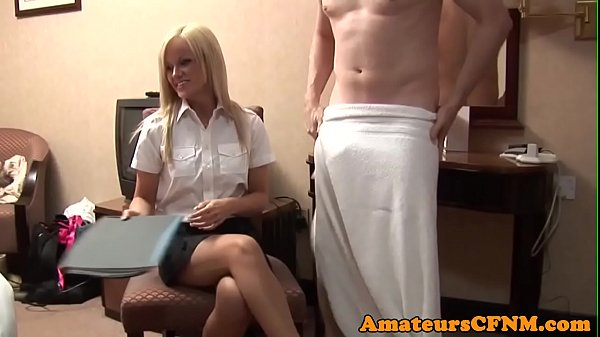 Teasing babe loves CFNM humiliation Thumb