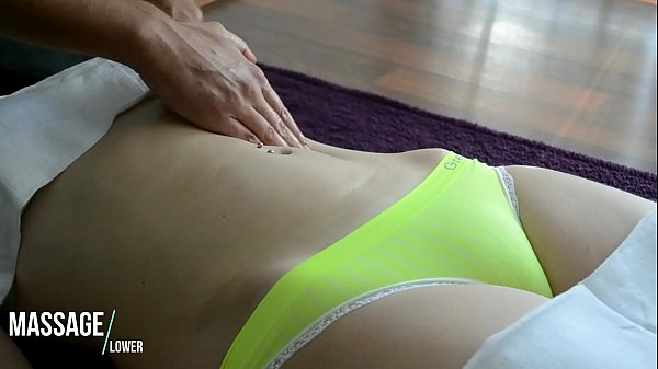 Sensual Gently Massage of Belly - Hot and Sexy European Babe - Camel toe tight panties