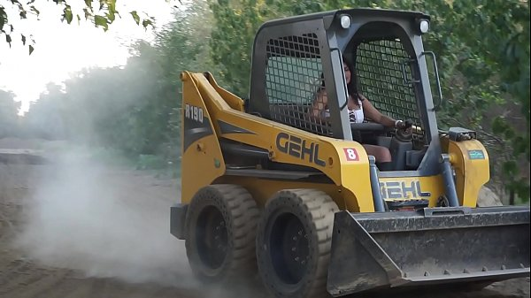 Sexy Indian Girl Driving Bobcat - Maya Thumb