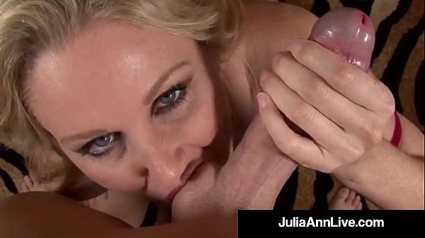 Dirty Talking Milf Julia Ann Sucks Your Hard We...