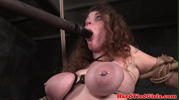 BDSM sun tied up and toyed by interracial dom Thumb