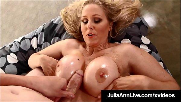 Big Booby Bang! Mommy Julia Ann Gets Nut Of Man Milk On Tits