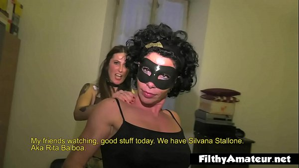 The muscular whore Rita Balboa in amateur orgy