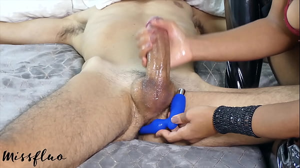 Young Girl Prostate Edging and Big Cumshot A163