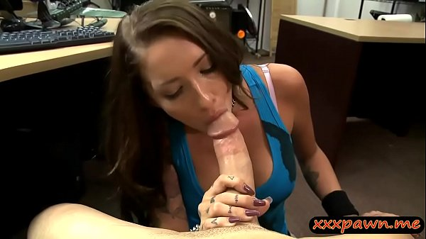 Hot brunette babe pawns vinyl and fucked by paw...