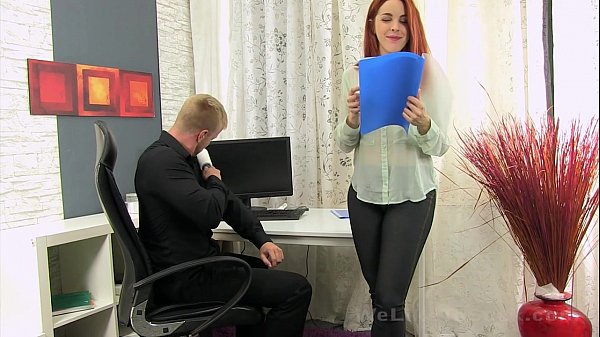 Secretary sucks the boss cock for some cum