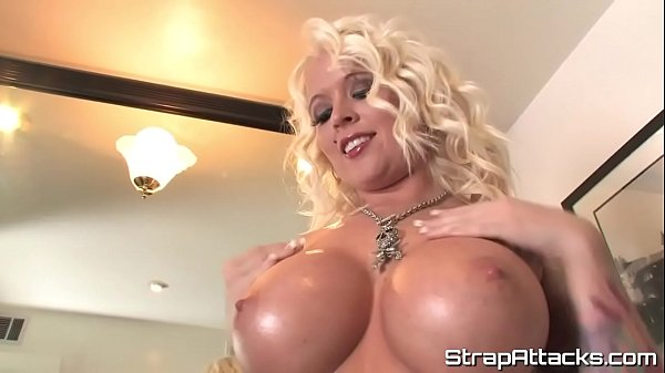 MILF domina pegs her submissive lover