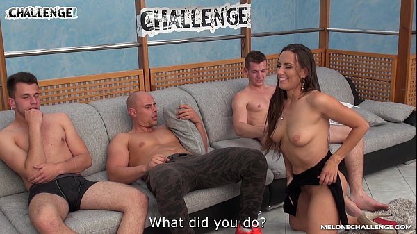 Young muscle guy try best in big pornstar orgy ...