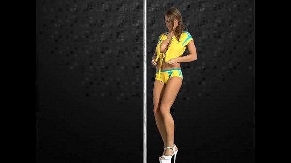 Busty teen sexy striptease dance