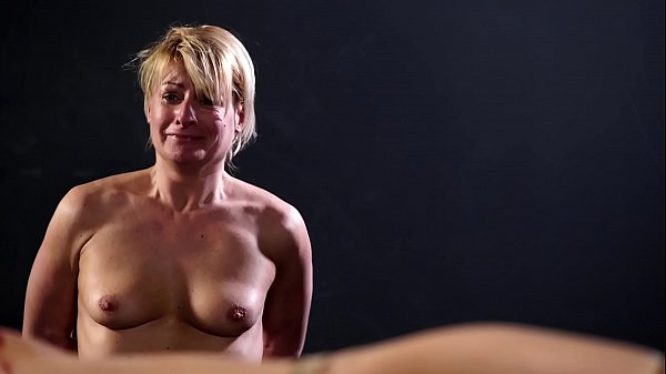 MILF domina wannabe get clamps on her pussy lips Thumb
