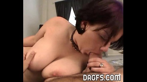Goth College girl gives a blowjob