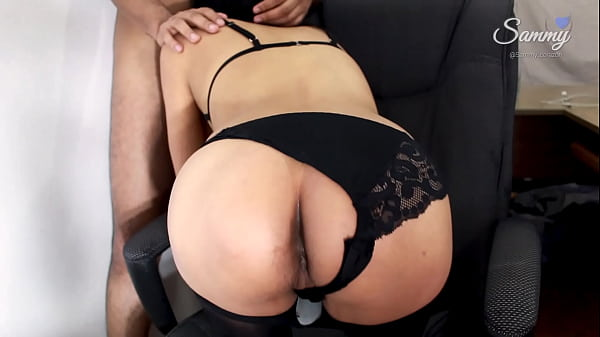 Hot Latina Intern Tasting her ass at the Office (Amateur Ass to Mouth)