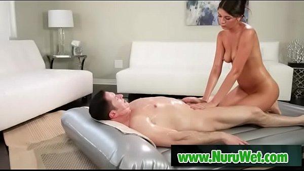 Oiled nuru massage from a hot masseuse - John Strong and Olivia Lua Thumb
