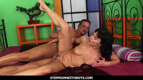 StepmomWithBoys - Honey Are You Jerking Let Stepmom Help You
